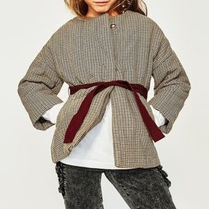 Zara Girls Soft Collection Quilted Jacket